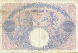 50 Francs BLEU ET ROSE FRANCE  1912 F.14.25 pr.TTB