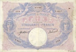 50 Francs BLEU ET ROSE FRANCE  1912 F.14.25 pr.TTB