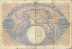 50 Francs BLEU ET ROSE FRANCE  1912 F.14.25 B