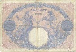 50 Francs BLEU ET ROSE FRANCE  1913 F.14.26 B