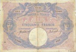 50 Francs BLEU ET ROSE FRANCE  1914 F.14.27 B