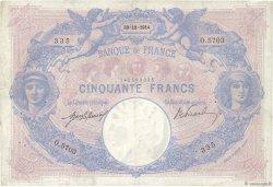 50 Francs BLEU ET ROSE FRANCE  1914 F.14.27 TB