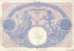 50 Francs BLEU ET ROSE FRANCE  1915 F.14.28 TTB