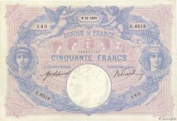 50 Francs BLEU ET ROSE FRANCE  1915 F.14.28 TTB+