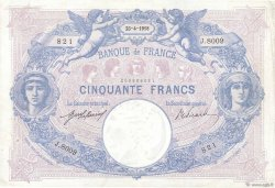 50 Francs BLEU ET ROSE FRANCE  1918 F.14.31 TTB