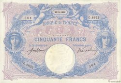 50 Francs BLEU ET ROSE  FRANCE  1919 F.14.32 TTB