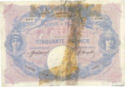 50 Francs BLEU ET ROSE FRANCE  1920 F.14.33 AB
