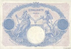 50 Francs BLEU ET ROSE FRANCE  1921 F.14.34 TTB