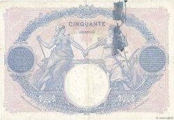 50 Francs BLEU ET ROSE FRANCE  1924 F.14.37 TTB