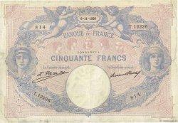 50 Francs BLEU ET ROSE FRANCE  1926 F.14.39 B