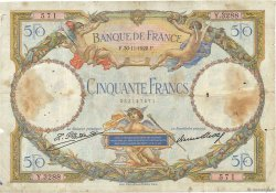 50 Francs LUC OLIVIER MERSON  FRANCIA  1928 F.15.02