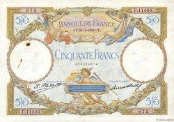 50 Francs LUC OLIVIER MERSON type modifié FRANCE  1932 F.16.03 TTB
