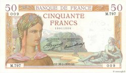 50 Francs CÉRÈS FRANCE  1935 F.17.05 SPL