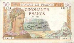 50 Francs CÉRÈS FRANCE  1935 F.17.07 TTB