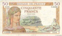 50 Francs CÉRÈS FRANCE  1935 F.17.13 TB+