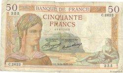 50 Francs CÉRÈS FRANCE  1935 F.17.14 B