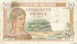 50 Francs CÉRÈS FRANCE  1935 F.17.18 TB