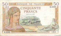 50 Francs CÉRÈS FRANCE  1935 F.17.21 TB