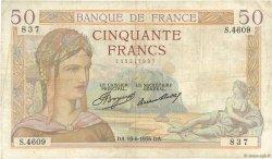 50 Francs CÉRÈS FRANCE  1936 F.17.27 TB