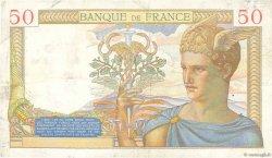 50 Francs CÉRÈS FRANCE  1936 F.17.29 TTB
