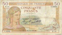 50 Francs CÉRÈS FRANCE  1936 F.17.32 B+