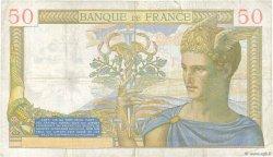 50 Francs CÉRÈS FRANCE  1937 F.17.38 TB