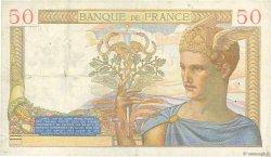 50 Francs CÉRÈS FRANCE  1937 F.17.40 TTB