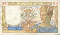 50 Francs CÉRÈS modifié FRANCE  1938 F.18.07 TTB