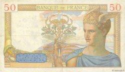 50 Francs CÉRÈS modifié FRANCE  1938 F.18.16 TTB