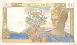 50 Francs CÉRÈS modifié FRANCE  1939 F.18.28 TTB
