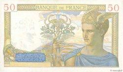 50 Francs CÉRÈS modifié FRANCE  1939 F.18.32 TTB+
