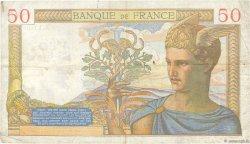 50 Francs CÉRÈS modifié FRANCE  1939 F.18.33 TTB