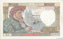 50 Francs JACQUES CŒUR FRANCE  1940 F.19.01 SUP