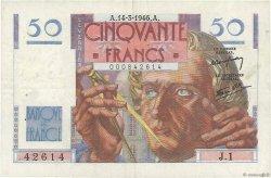 50 Francs LE VERRIER FRANCE  1946 F.20.01 TTB+
