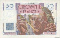 50 Francs LE VERRIER FRANCE  1946 F.20.03 pr.NEUF