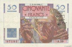 50 Francs LE VERRIER FRANCE  1946 F.20.06 TTB+