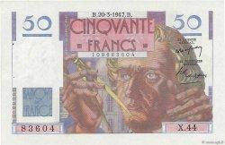 50 Francs LE VERRIER FRANCE  1947 F.20.07 SPL