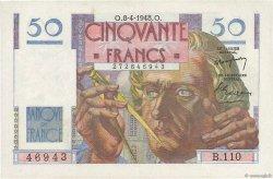 50 Francs LE VERRIER FRANKREICH  1948 F.20.10 VZ