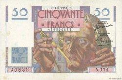 50 Francs LE VERRIER FRANCE  1950 F.20.17 pr.SUP