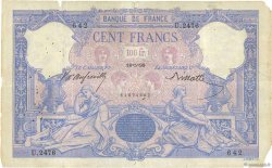 100 Francs BLEU ET ROSE FRANCE  1898 F.21.11 B