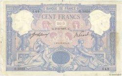 100 Francs BLEU ET ROSE FRANCE  1907 F.21.21 TB