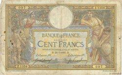 100 Francs LUC OLIVIER MERSON sans LOM FRANCE  1911 F.23.03 pr.B
