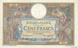 100 Francs LUC OLIVIER MERSON sans LOM FRANCE  1920 F.23.12 TTB