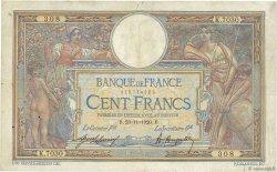 100 Francs LUC OLIVIER MERSON sans LOM FRANCE  1920 F.23.13 pr.TB