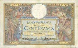 100 Francs LUC OLIVIER MERSON sans LOM FRANCE  1921 F.23.14 TB+