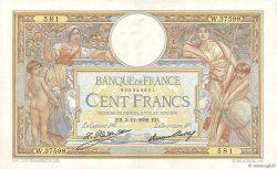 100 Francs LUC OLIVIER MERSON grands cartouches FRANCE  1932 F.24.11 pr.SUP