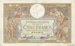 100 Francs LUC OLIVIER MERSON type modifié FRANCE  1937 F.25.02 pr.TTB