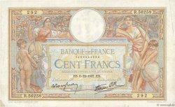 100 Francs LUC OLIVIER MERSON type modifié FRANCE  1937 F.25.05 TB+