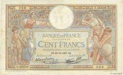 100 Francs LUC OLIVIER MERSON type modifié FRANCE  1937 F.25.06 TB