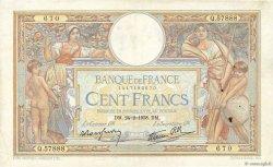100 Francs LUC OLIVIER MERSON type modifié FRANCE  1938 F.25.12 TTB